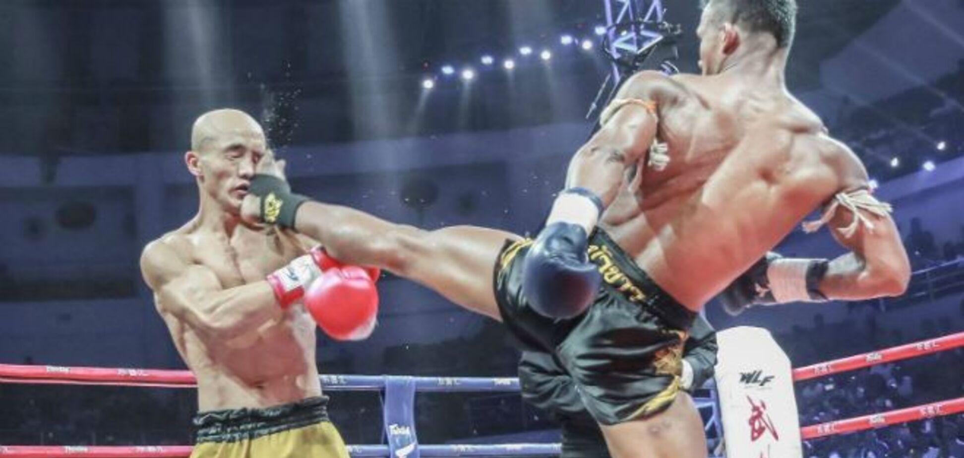 Бой боксера и шаолиньского монаха завершился неожиданным нокаутом за 8 секунд