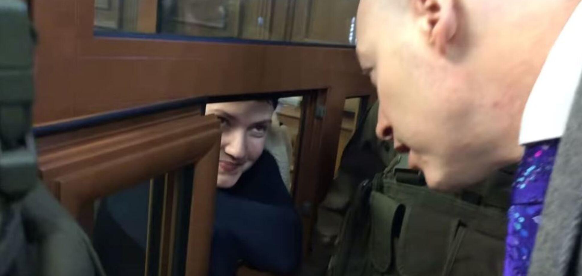 Савченко перейшла на російську і зробила скандальну заяву з-за ґрат