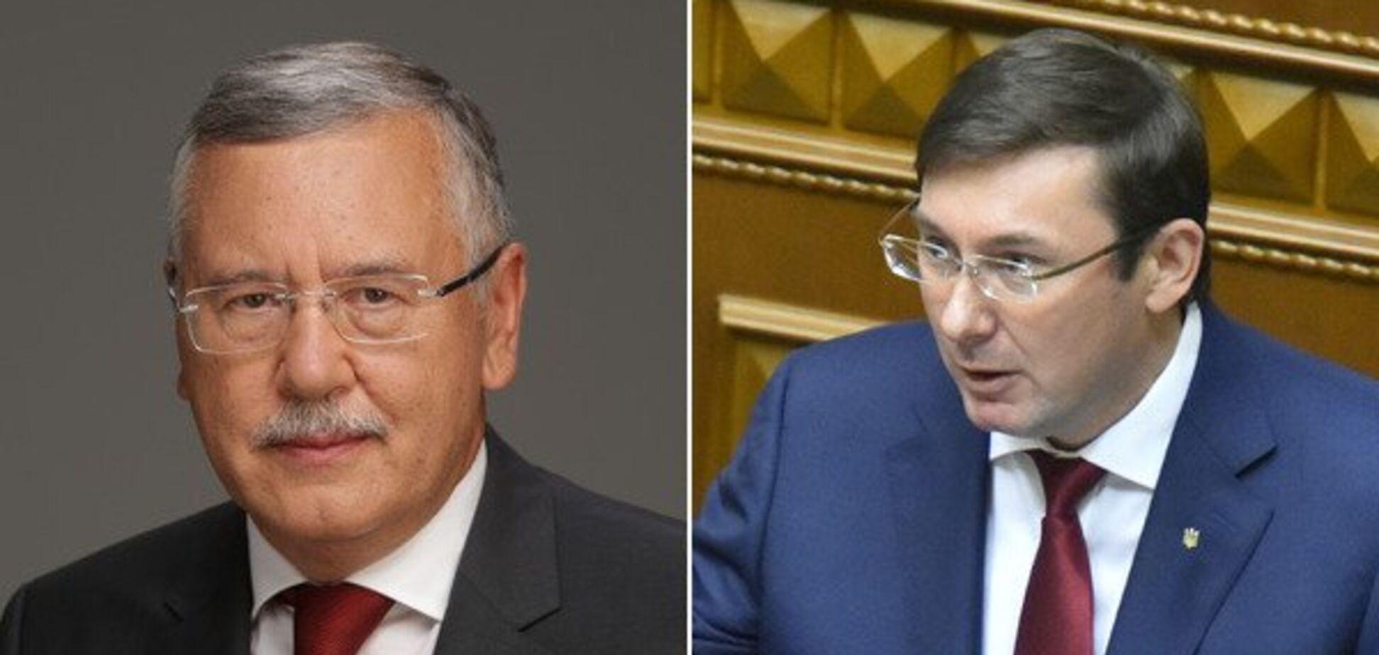 Луценко пригрозил Гриценко подозрением в госизмене: ему ответили