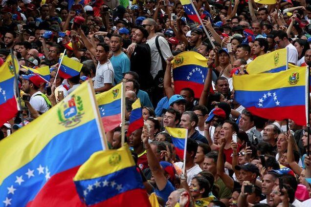 Иллюстрация. Революция в Венесуэле