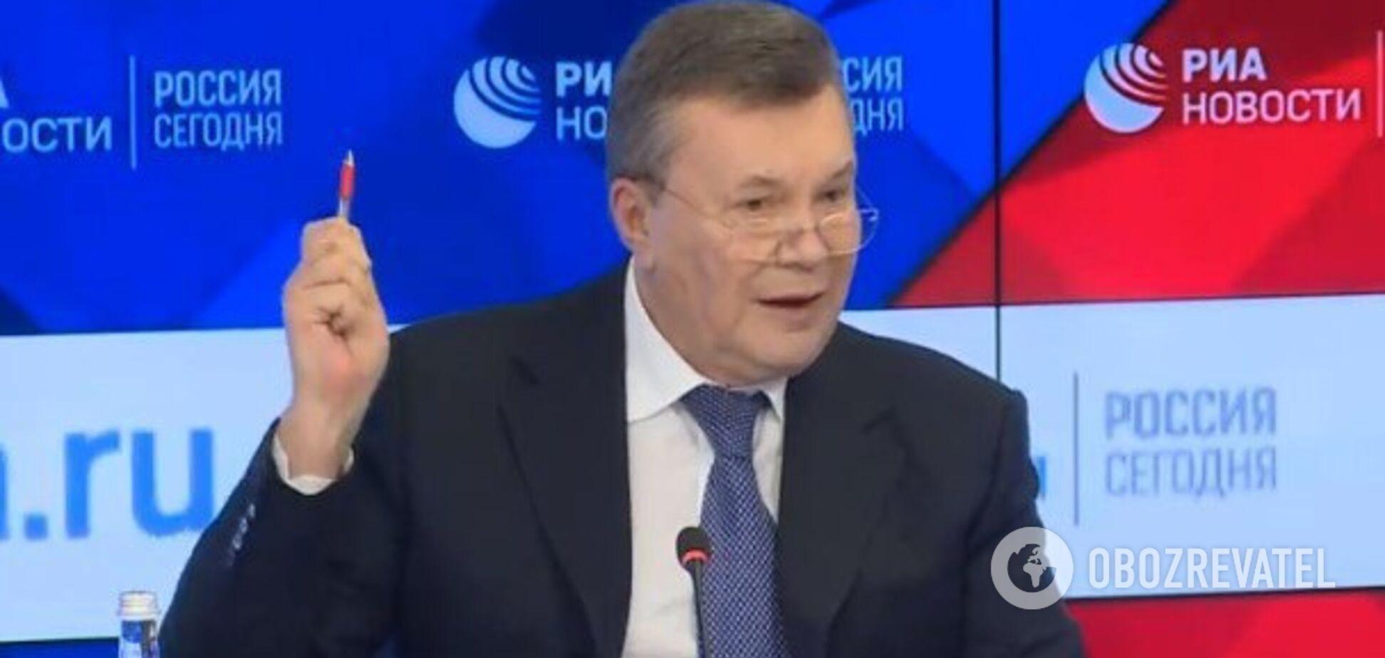 Янукович розповів, як ледь не вбився об лавочку