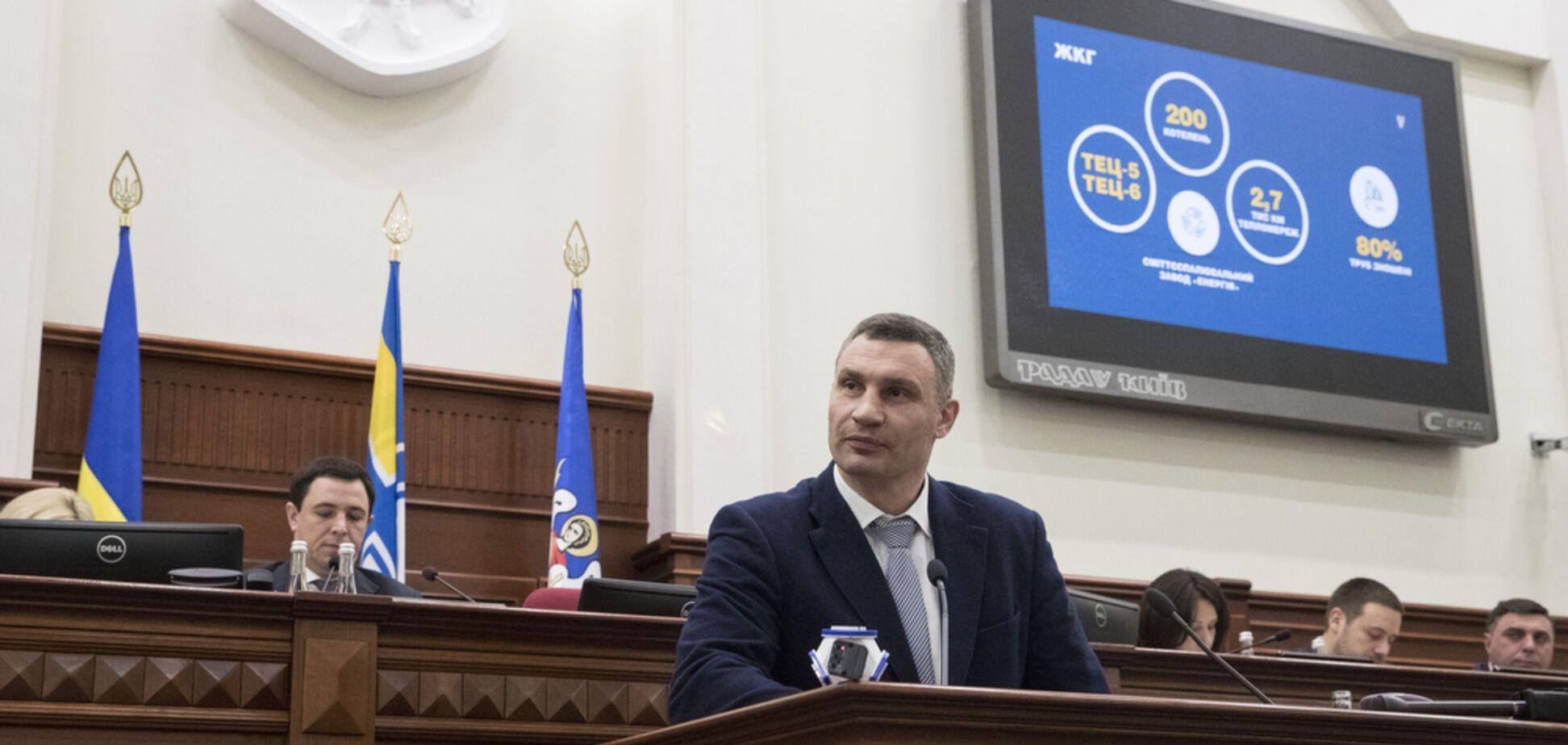 Кличко прозвітував перед Київрадою про успіхи столичної влади за 2018 рік