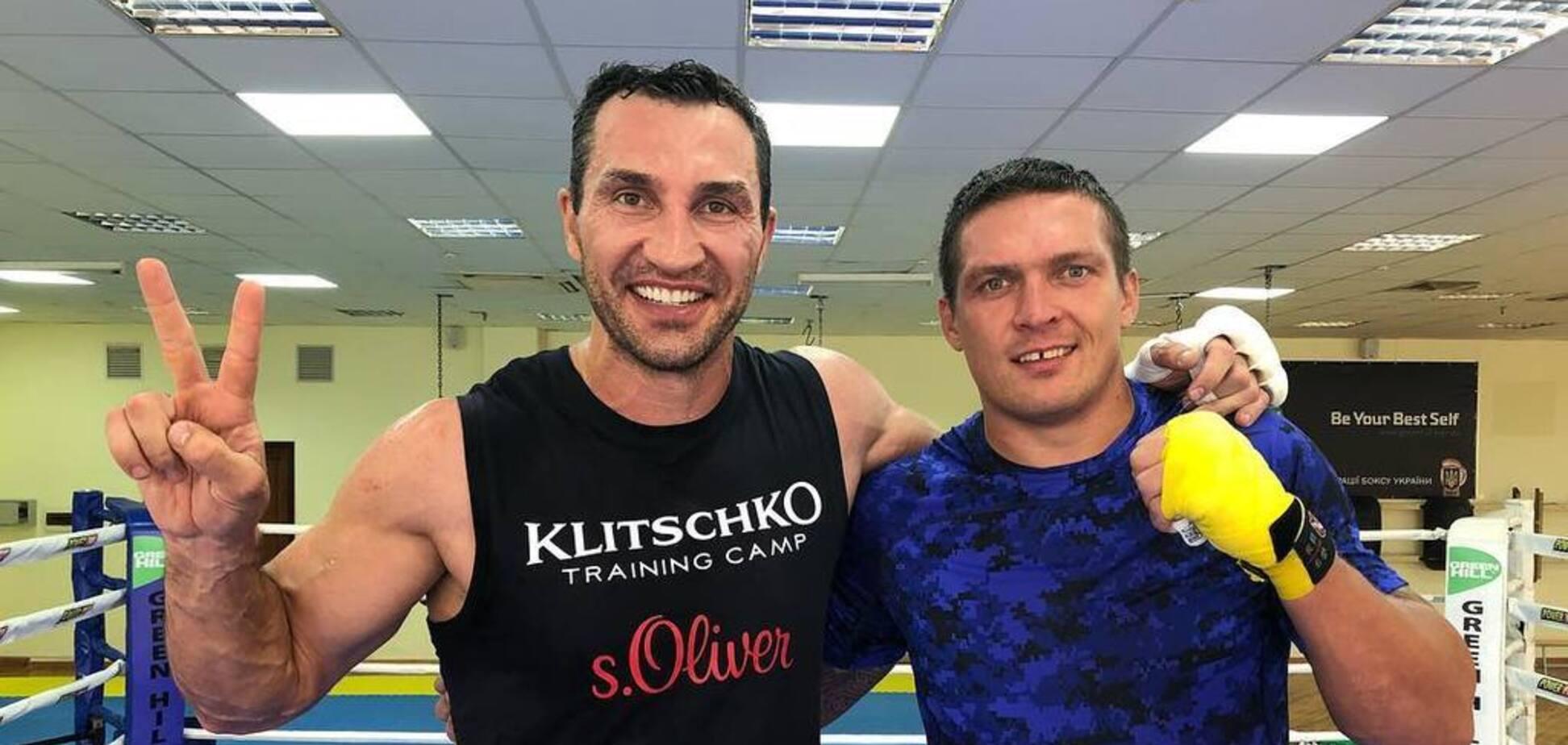 Александр Усик и Владимир Кличко. Источник: instagram.com/usykaa