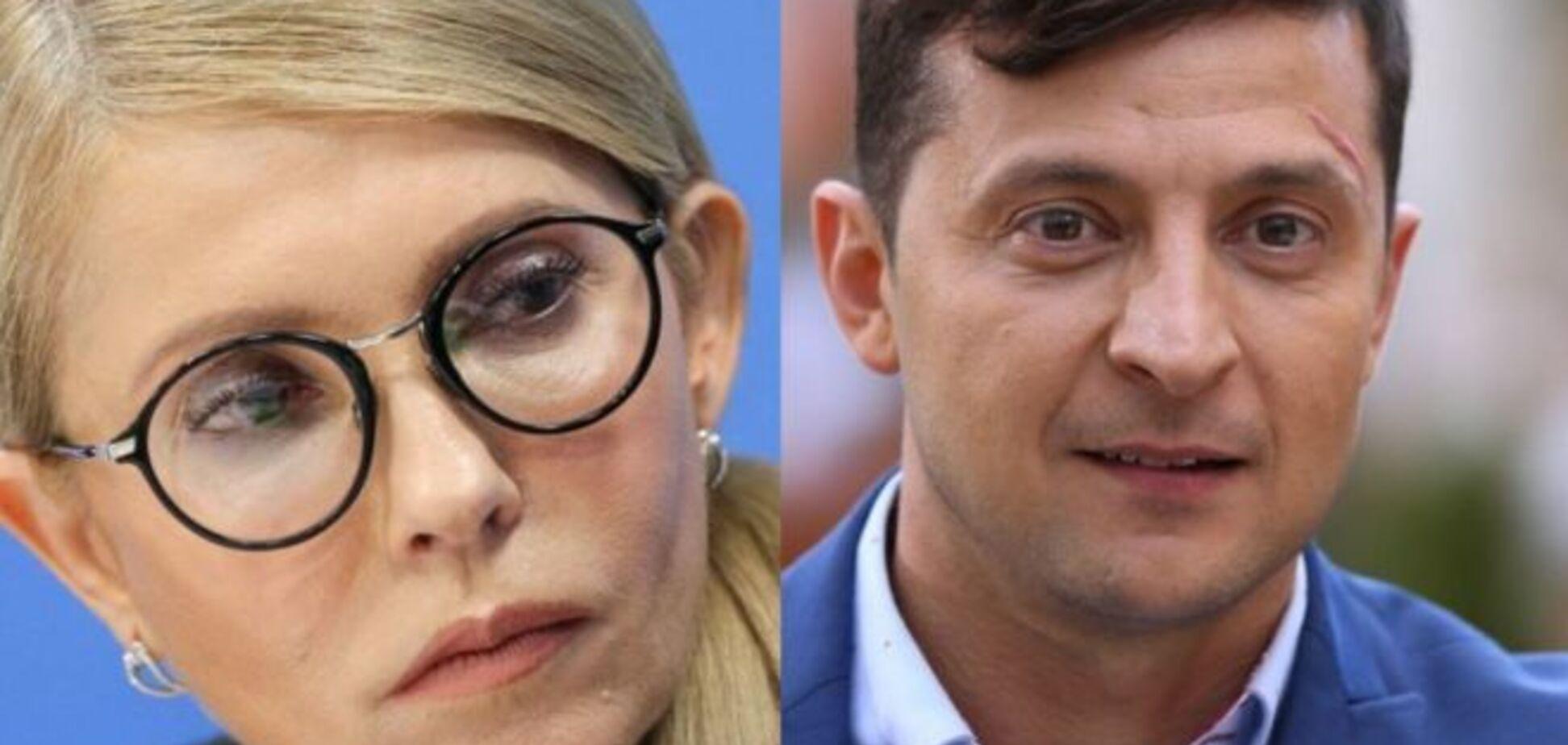 У другому турі виборів зійдуться Зеленський і Тимошенко – опитування