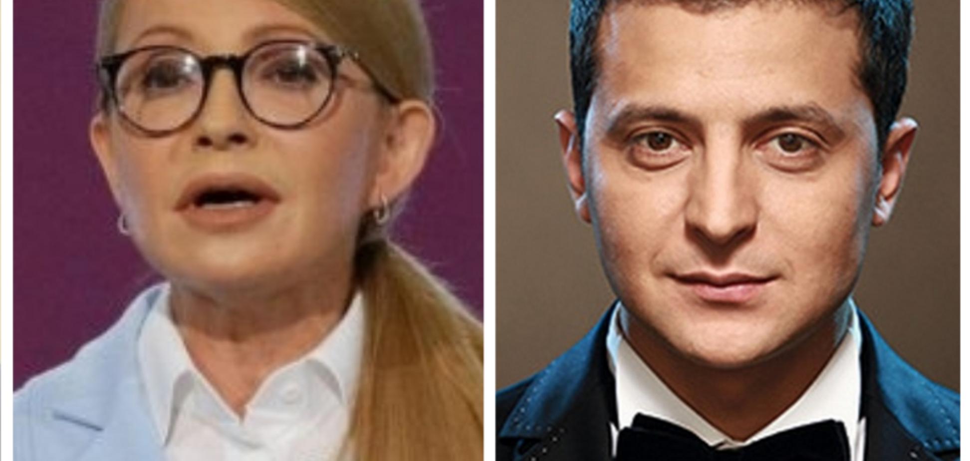 У другому турі виборів зустрінуться Тимошенко і Зеленський — соціологія