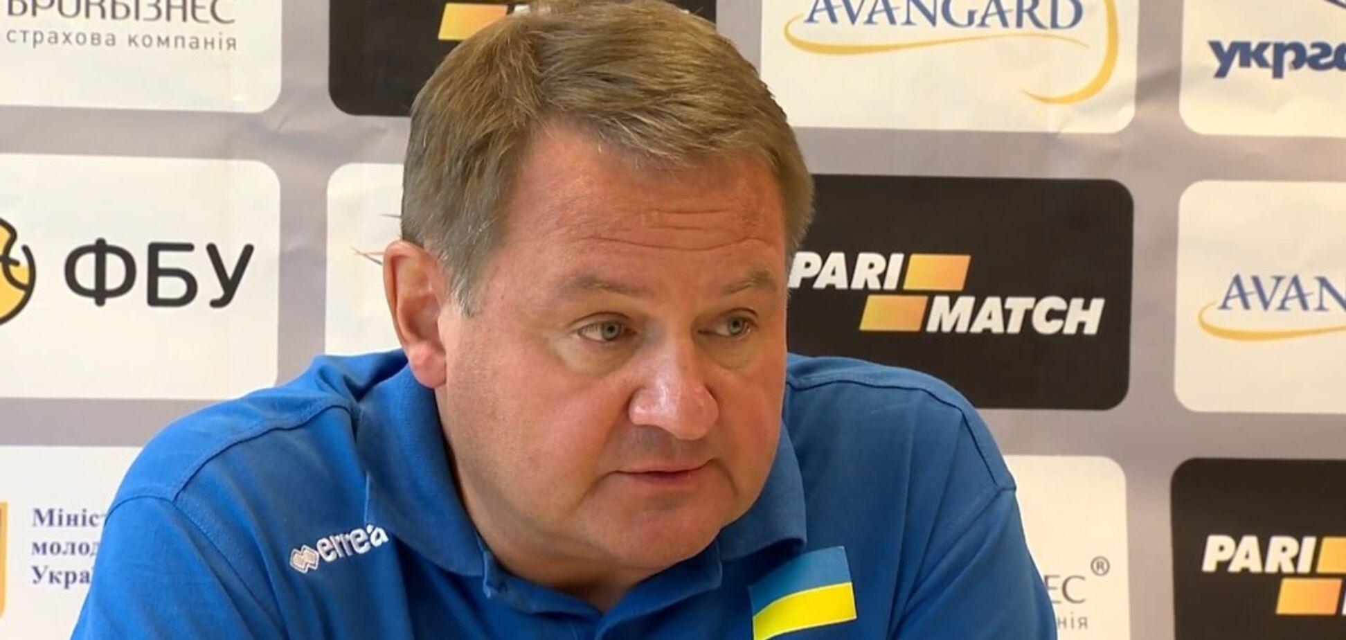 Главный тренер сборной Украины по баскетболу ушел в отставку