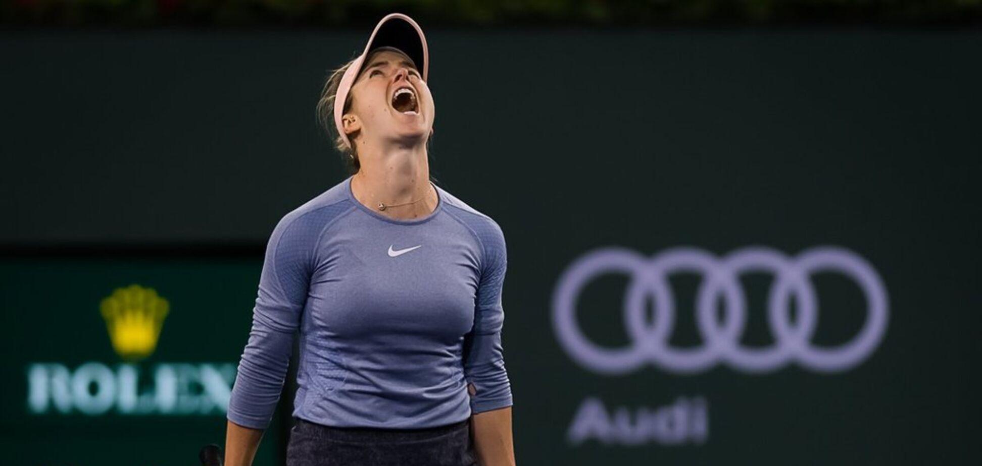 Свитолина вышла в полуфинал супертурнира в США