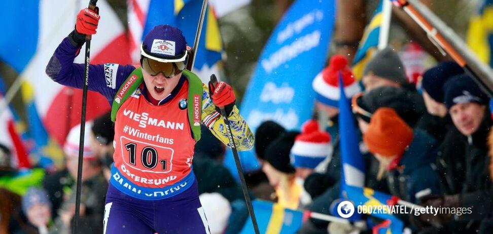 Украинка 'застрелилась' в масс-старте чемпионата мира по биатлону
