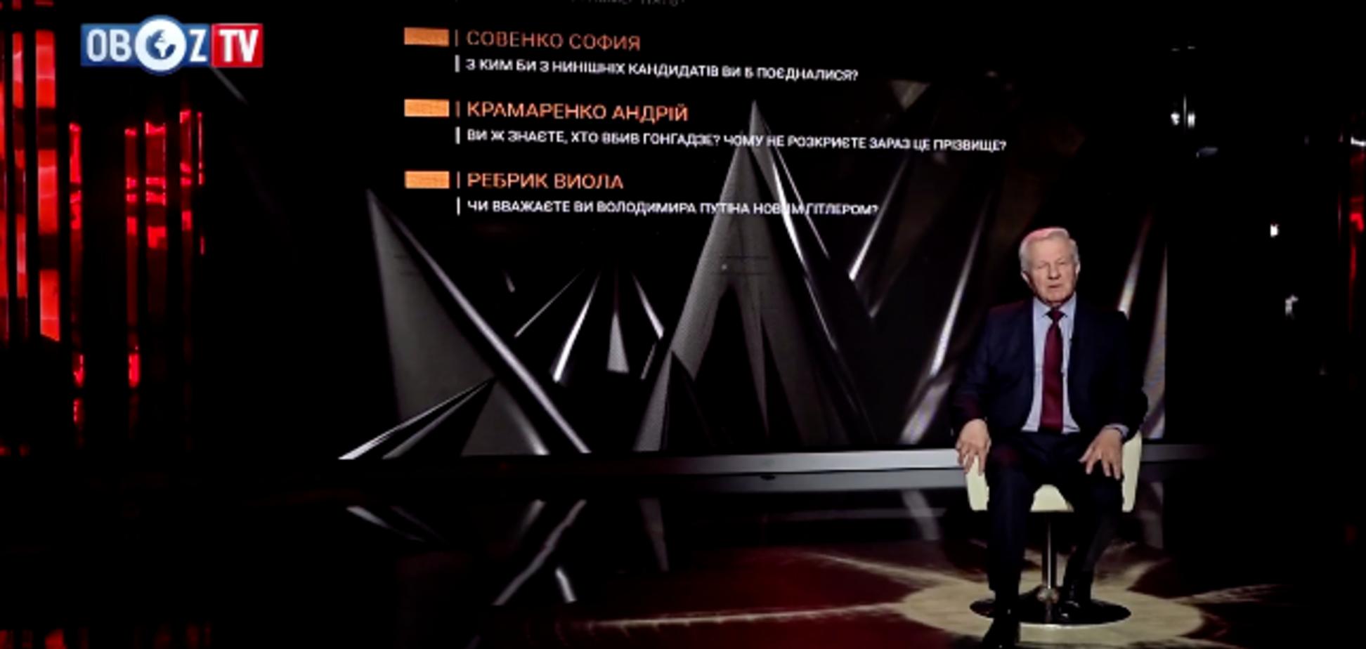 Программа ''Острый вопрос''. Тринадцатый гость – Александр Мороз | ч.1