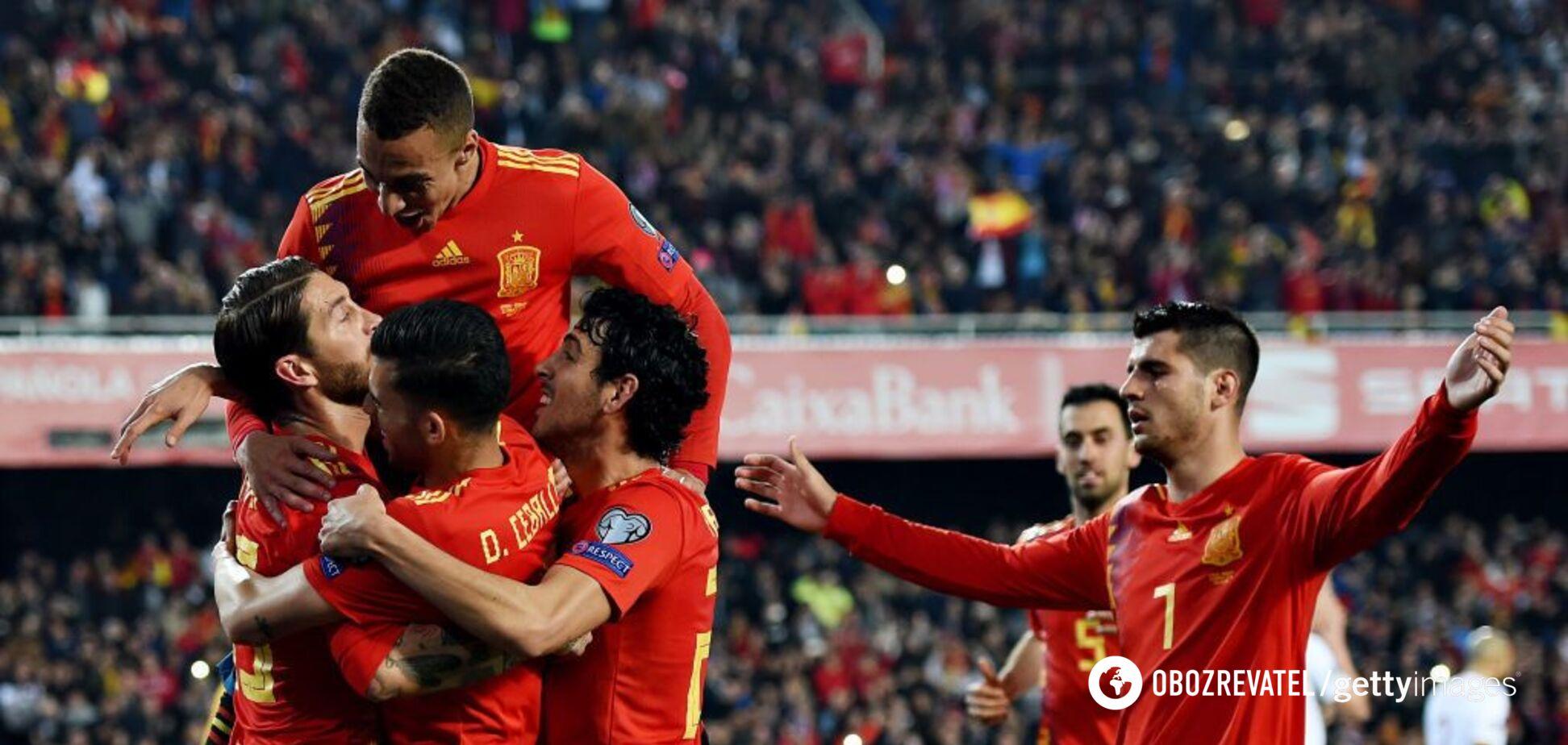 Натужна перемога Іспанії: результати відбору на Євро-2020 23 березня