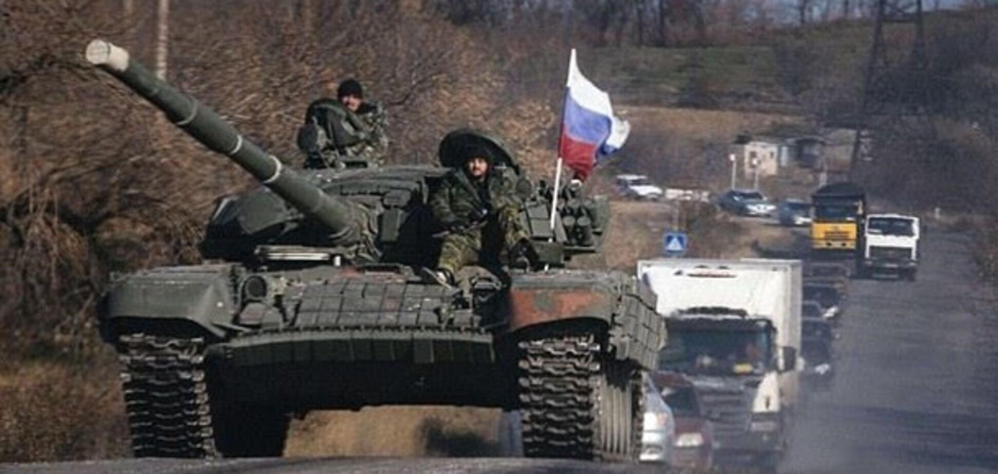 В сеть попало видео подрыва российского танка на Донбассе