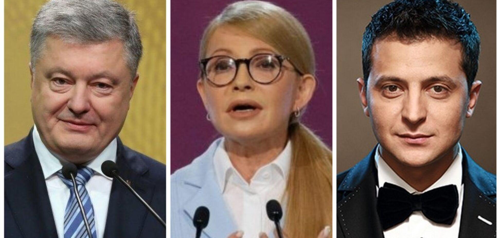 Зеленський — попереду: українці назвали лідерів виборчих перегонів