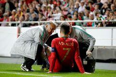 Португалия лишилась Роналду в матче с Сербией