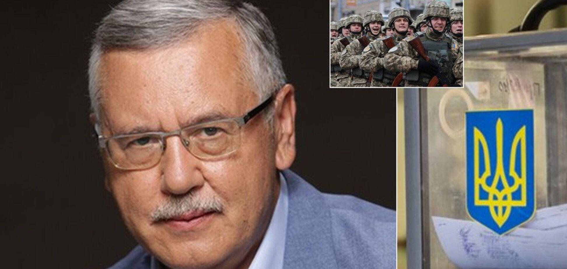 Двойное гражданство, отмена призыва и легализация оружия: что планирует Гриценко