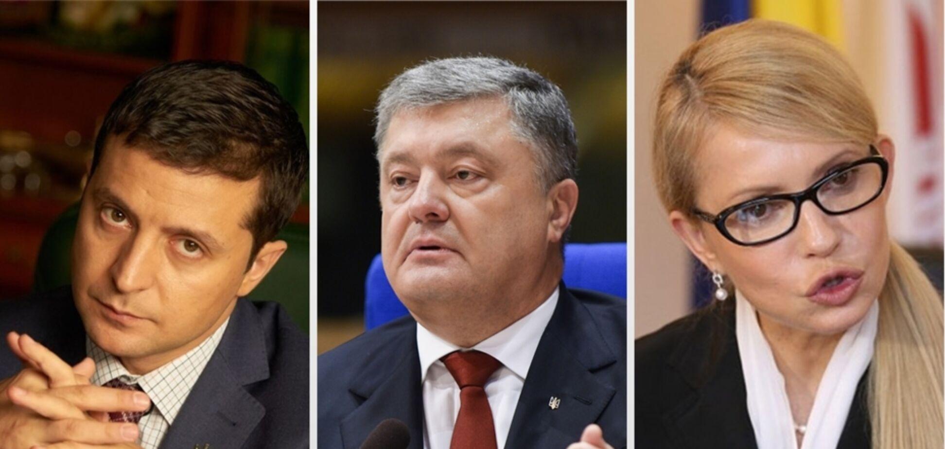 Порошенко наздоганяє Тимошенко: українці назвали топ-3 кандидати