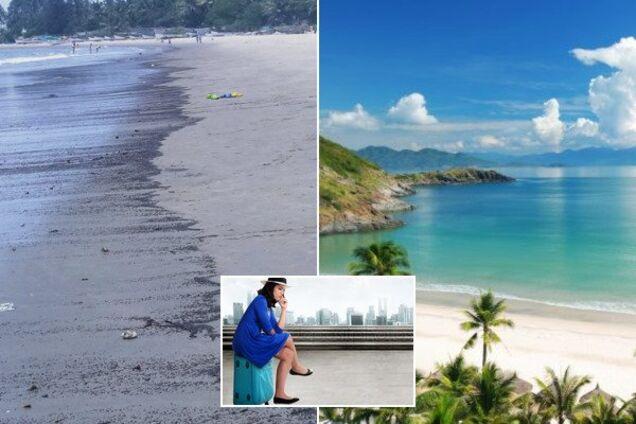 Пляжи популярного курорта окрасились в черный цвет: что случилось