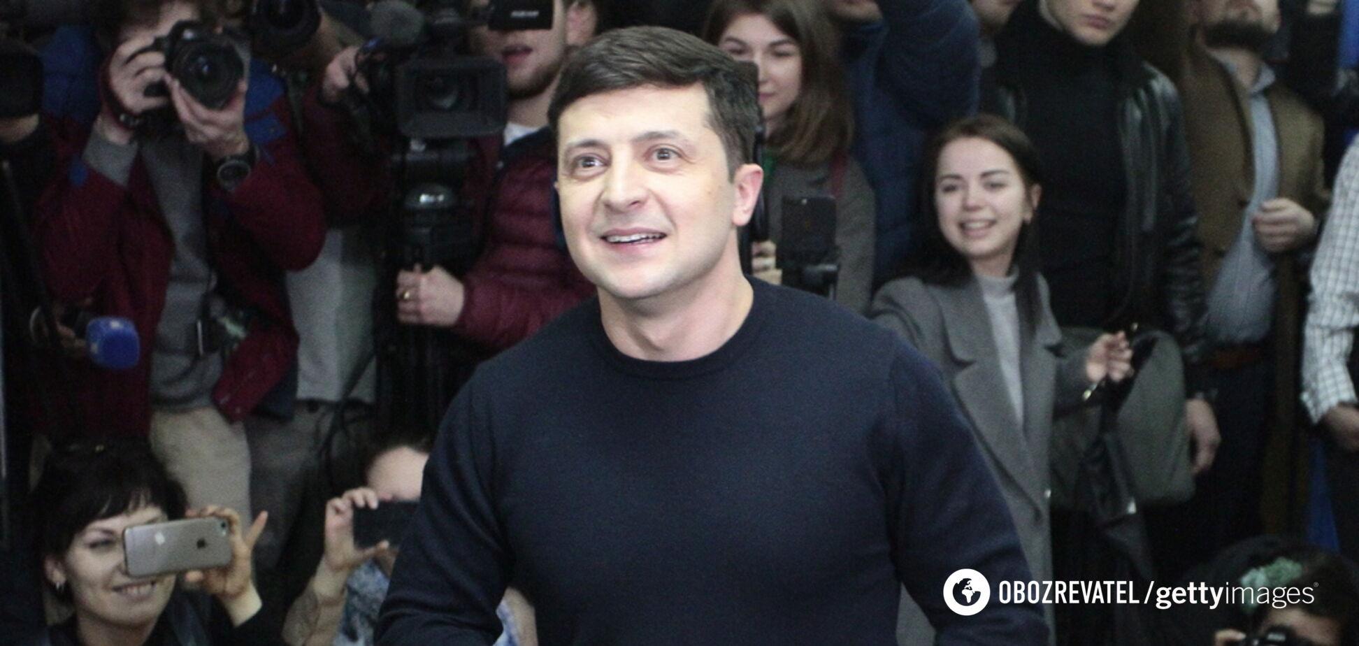 'Экзитполов много, а президент один!' Зеленский выступил с речью