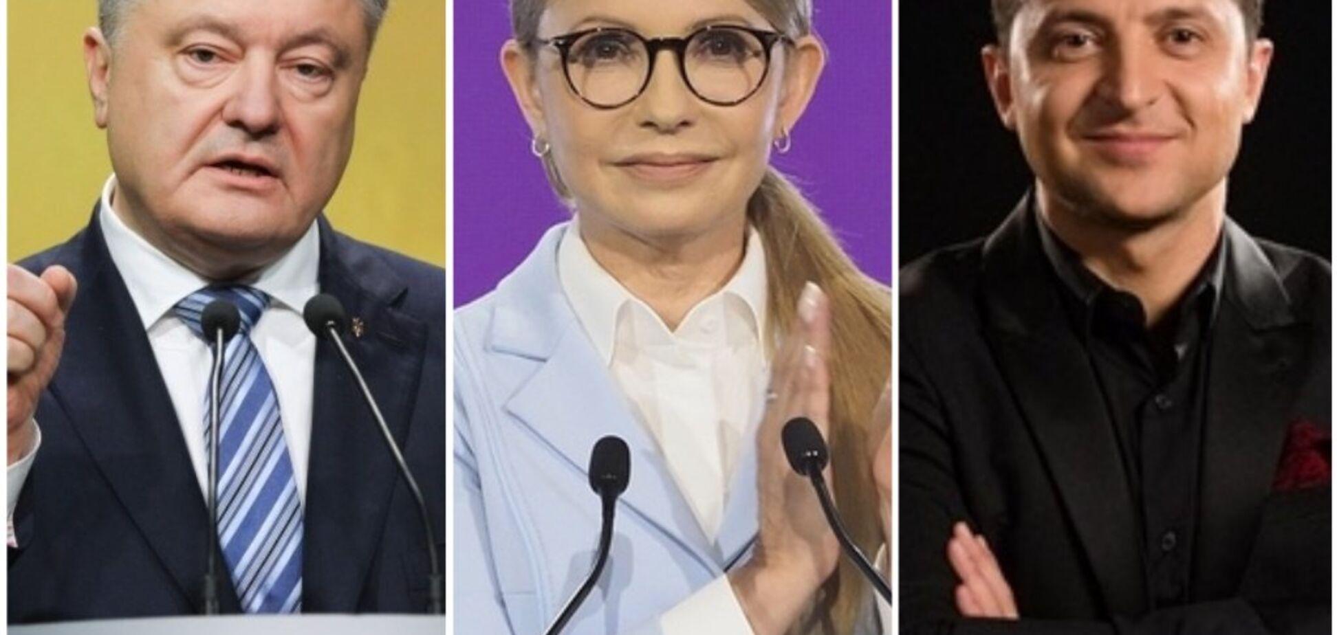 Порошенка у другому турі перемагають і Зеленський, і Тимошенко