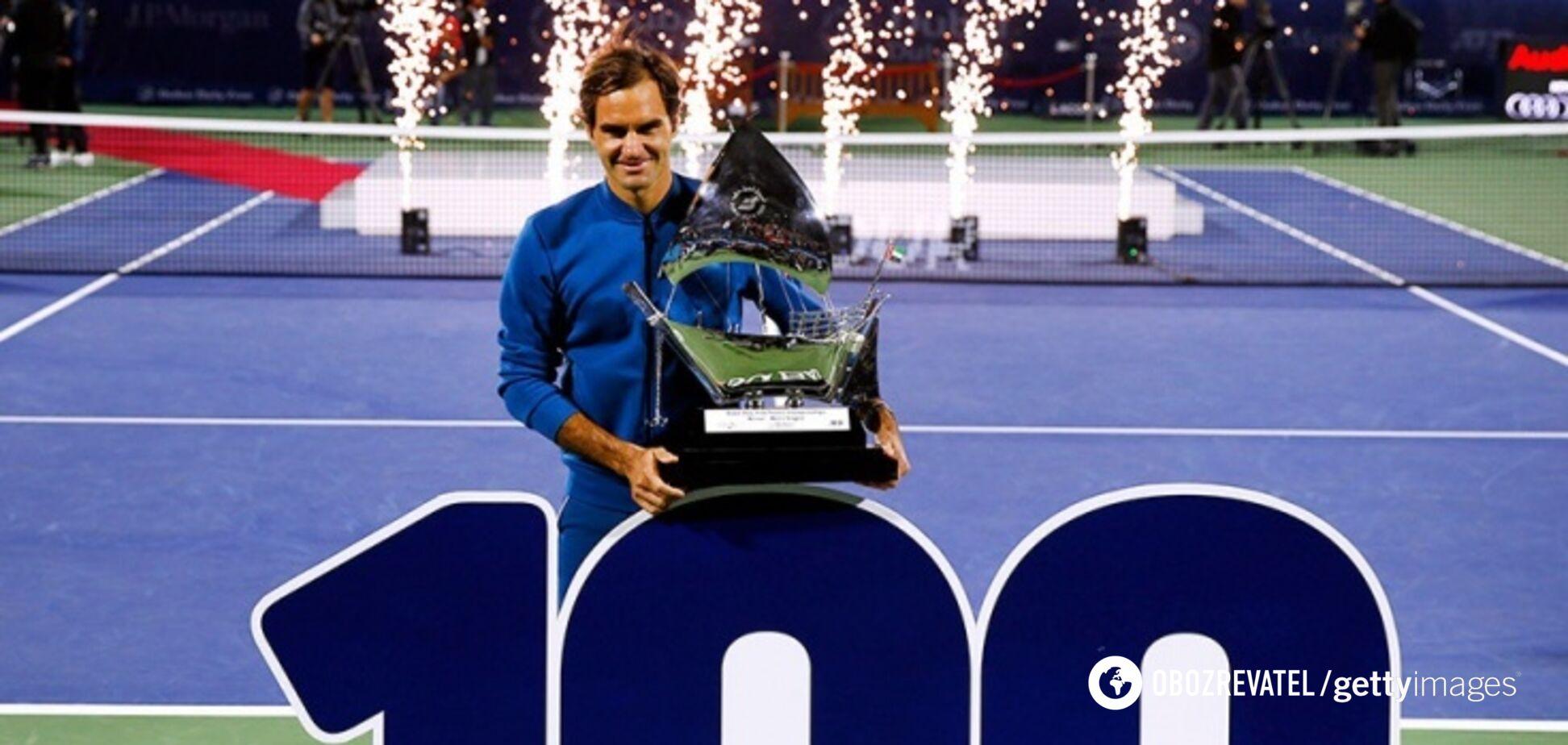 Роджер Федерер установил впечатляющее достижение мирового тенниса