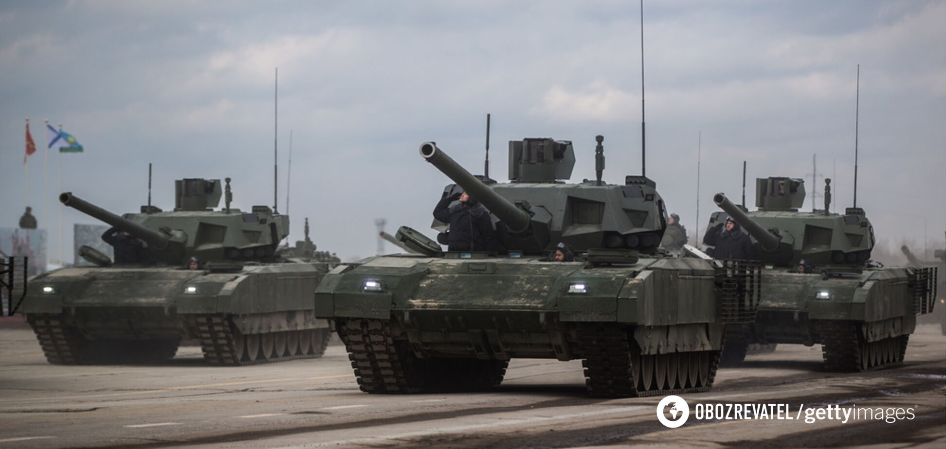 'Обі*ратися, побачивши НАТО!' У мережі висміяли нові російські танки