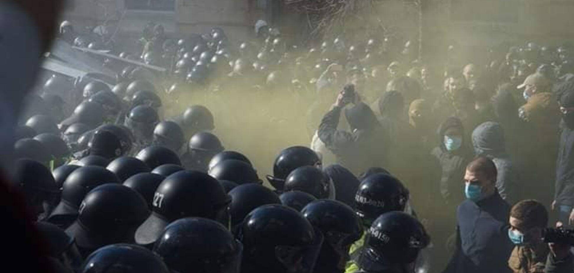 У Києві та Черкасах відбулися зіткнення Нацкорпусу і поліції: фото та відео масштабного протесту