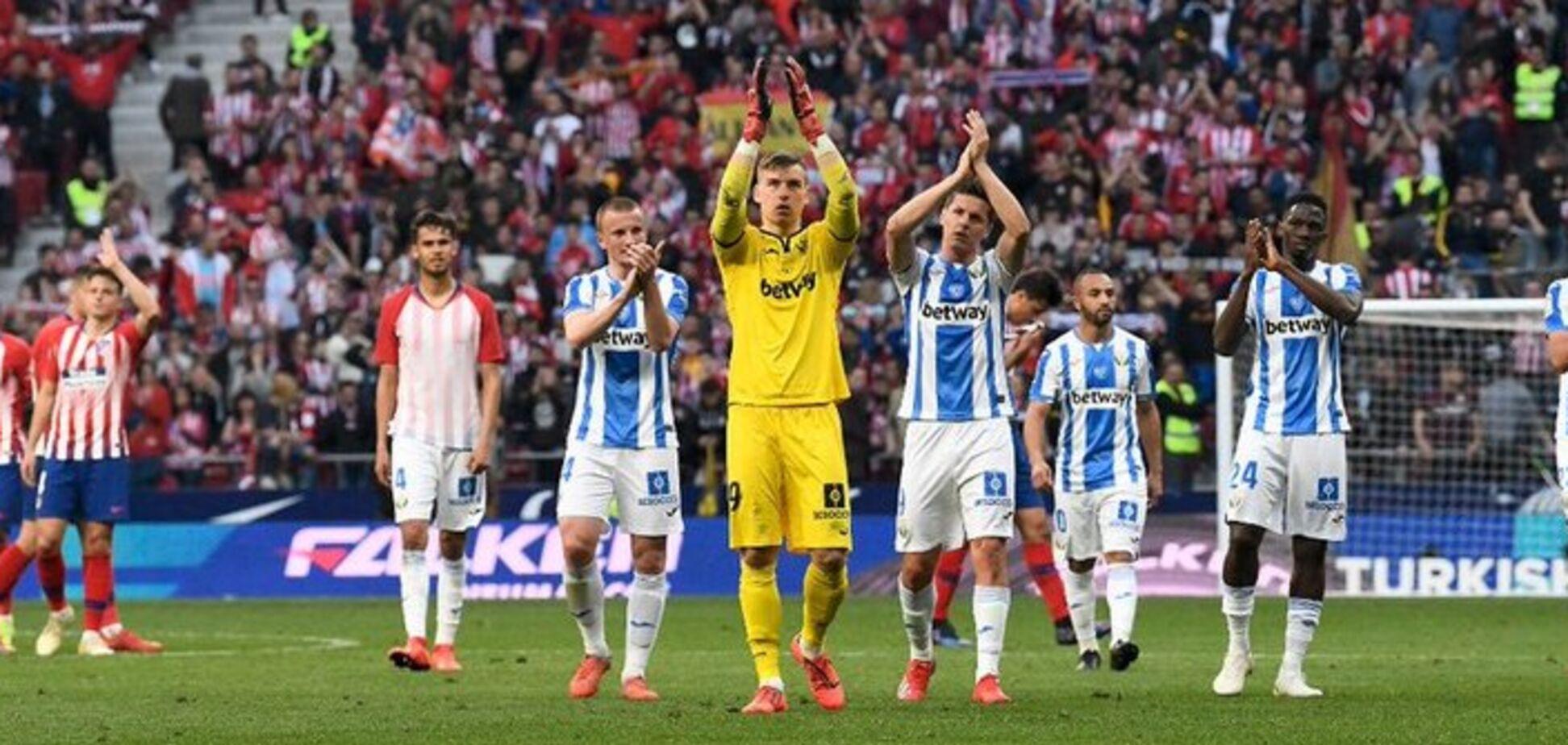 Воротар збірної України став кращим уматчі чемпіонату Іспанії