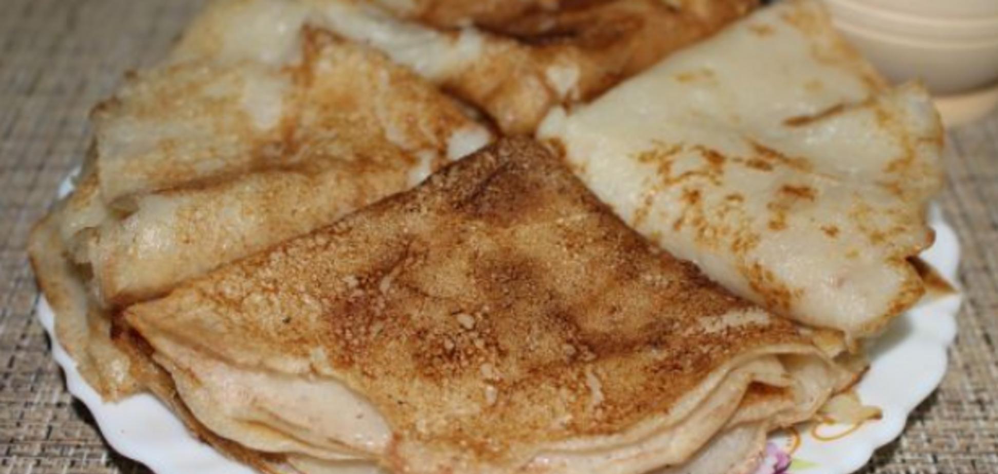 Як приготувати пісні млинці на Масляну: найпростіший рецепт