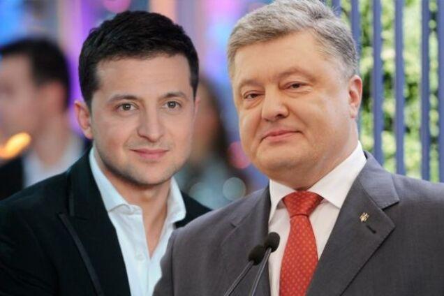 Владимир Зеленский, Петр Порошенко