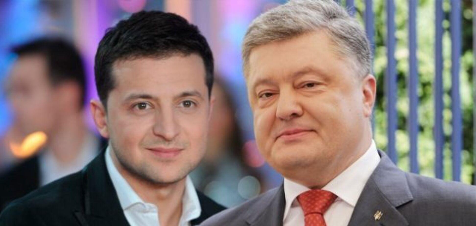 Результаты социсследования после первого тура: за Зеленского — 51%, за Порошенко — 21% среди всех опрошенных