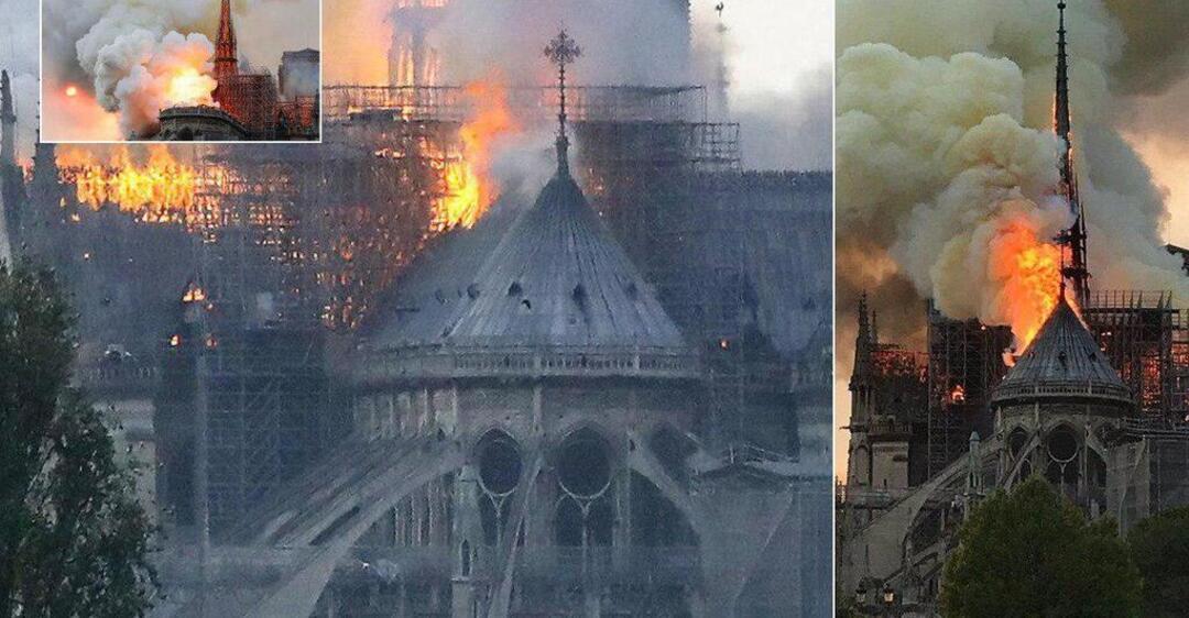 Во Франции сгорел собор Парижской Богоматери: фото и видео последствий