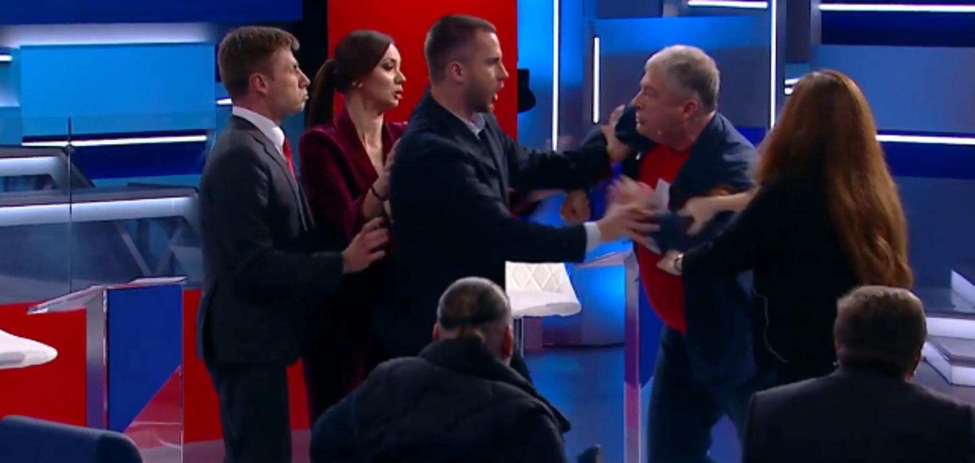 'Ты мразь! Козляра!' Гончаренко и Червоненко сцепились в прямом эфире: видео
