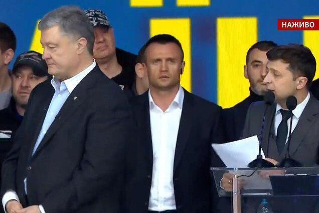 Дебати: Зеленський поставив Порошенку гострі запитання