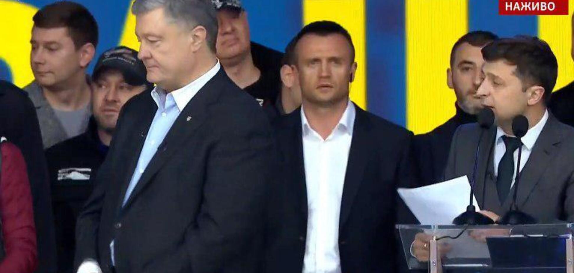 Дебати на 'Олімпійському': Зеленський поставив Порошенку гострі запитання