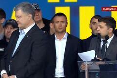Дебаты на 'Олимпийском': Зеленский поставил Порошенко острые вопросы
