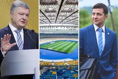 Дебаты на 'Олимпийском': кандидаты внезапно объединили сцены
