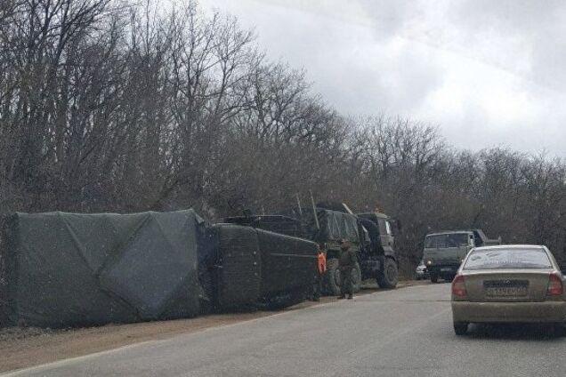 В Крыму перевернулся грузовик оккупантов