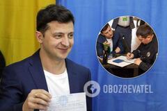 Зеленський відзначився витівкою на виборчій дільниці: поліція відреагувала