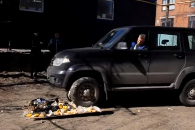 Давлять сир: на відео потрапило знищення санкціонки в РФ