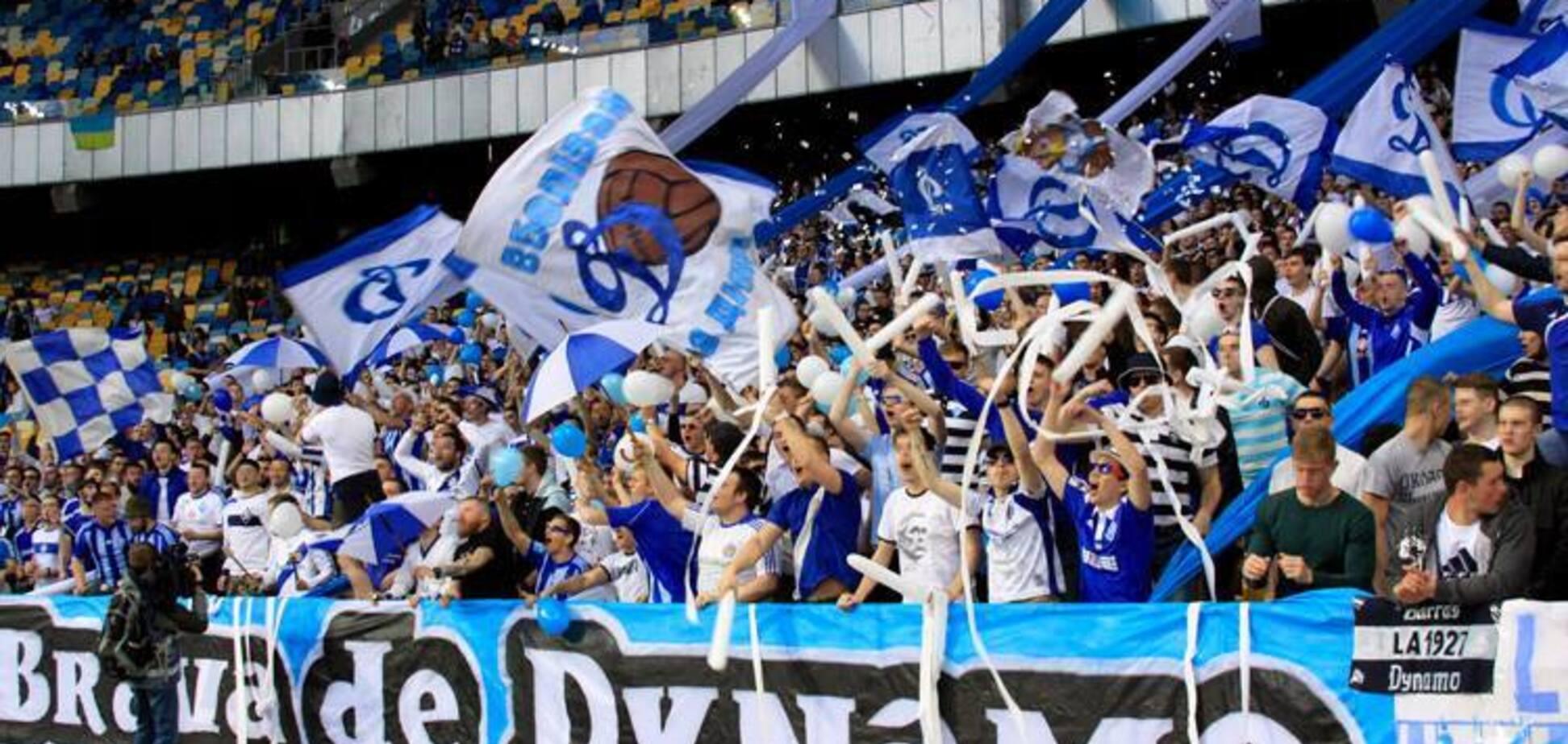 Ультрас 'Динамо' перед матчем із 'Шахтарем' розмалювали 'Олімпійський': яскраве відео