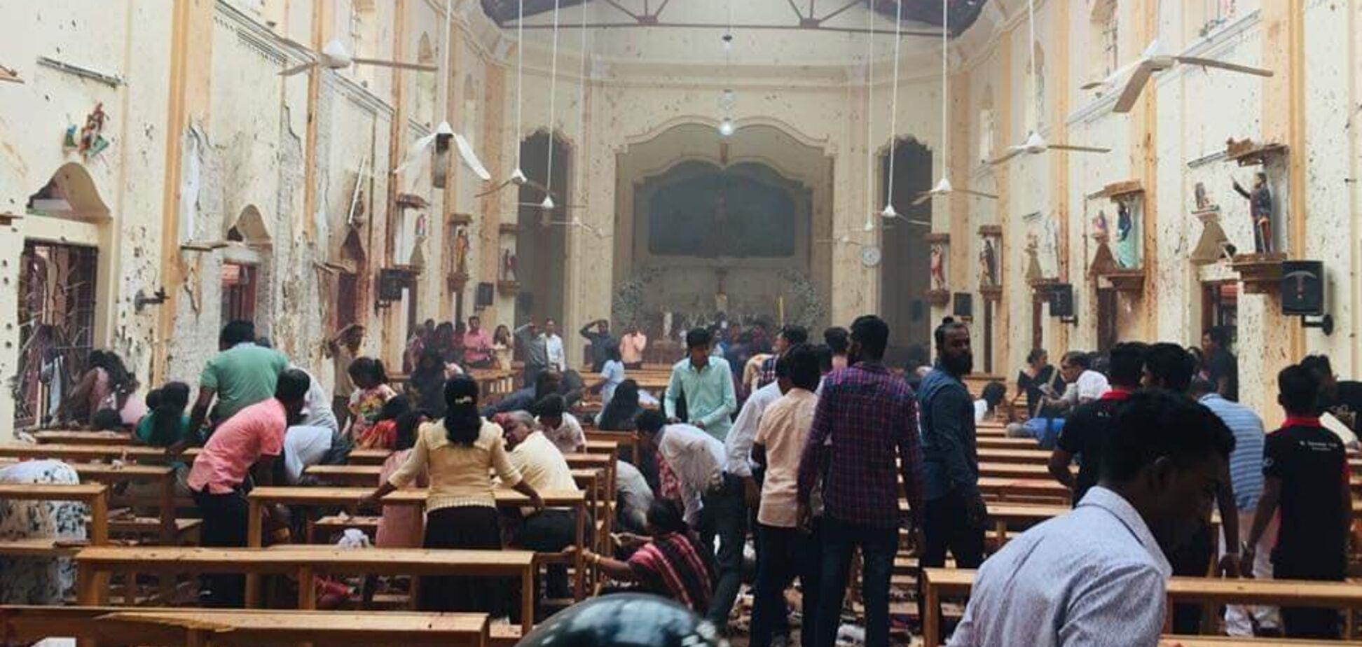 Кривавий теракт на Шрі-Ланці: момент вибуху смертника в готелі потрапив на відео