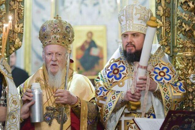 Вселенський патріарх Варфоломій і митрополит Епіфаній