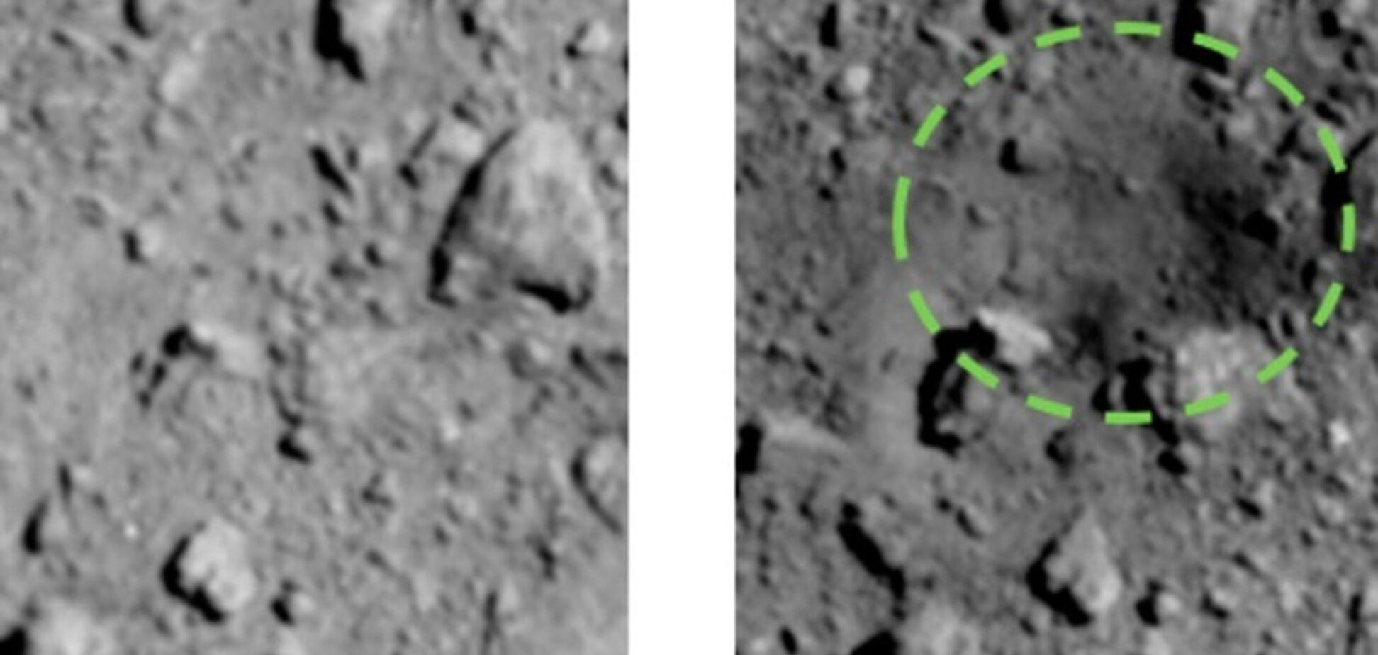 У космосі підірвали бомбу: рукотворний кратер потрапив на фото