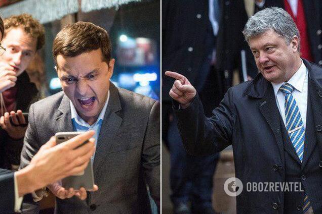 Владимир Зеленский и Петр Порошенко