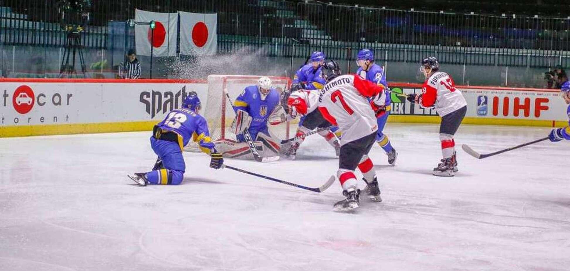 Сборная Украины стартовала на ЧМ по хоккею поражением от Японии