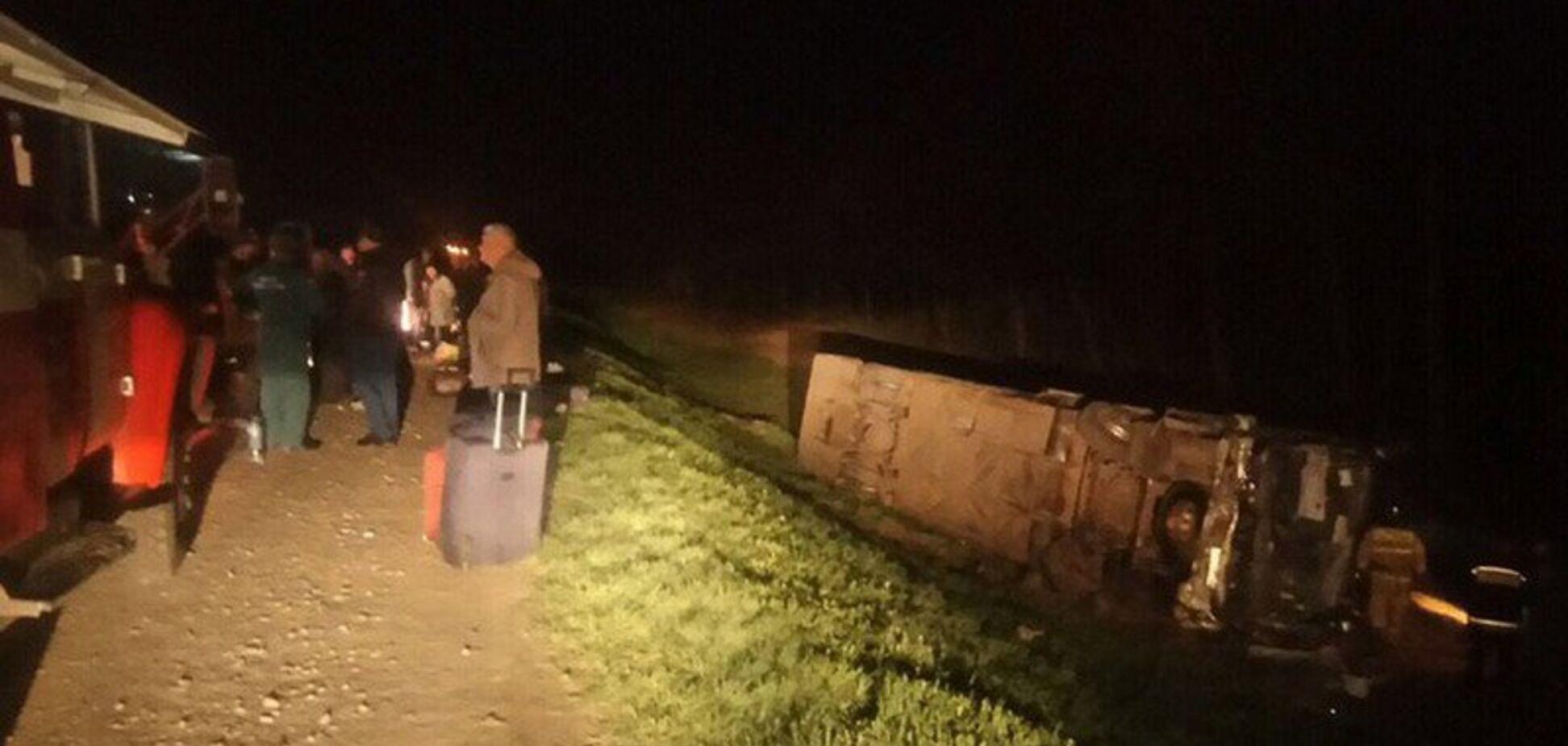 В России разбился автобус с украинцами: появились фото