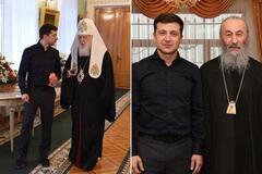 Зеленский встретился с Филаретом и Онуфрием: все подробности и фото