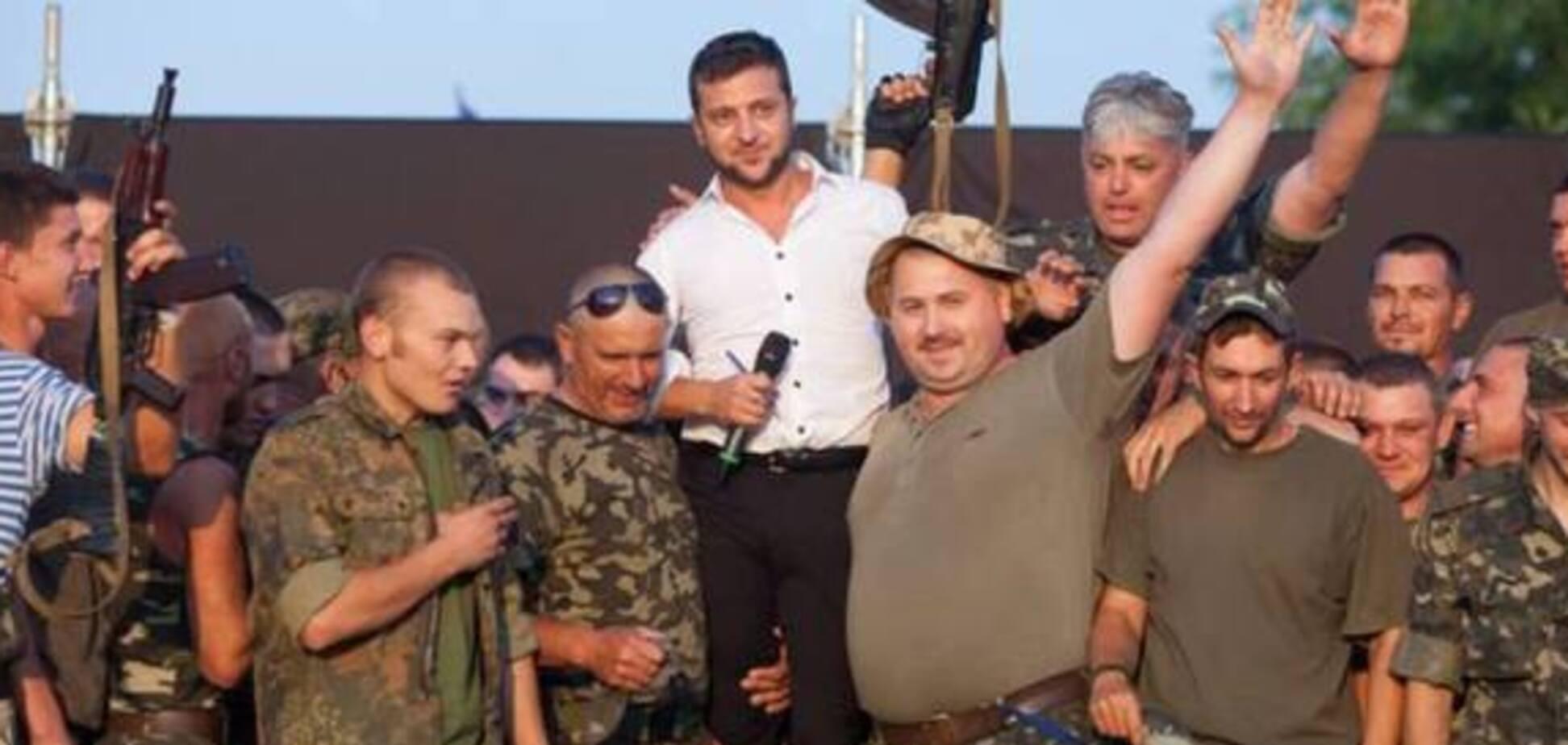 Зеленский кланялся воинам АТО и называл терористов 'Л/ДНР' мразью