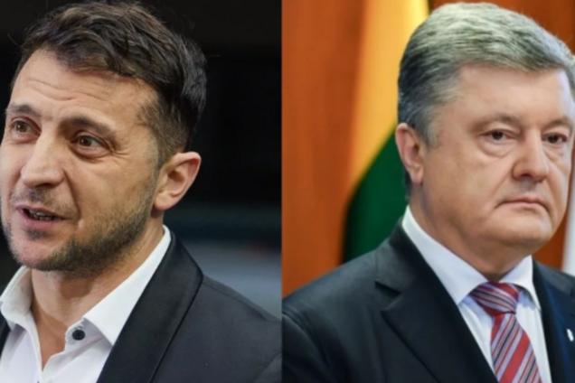 Петро Порошенко і Володимир Зеленський