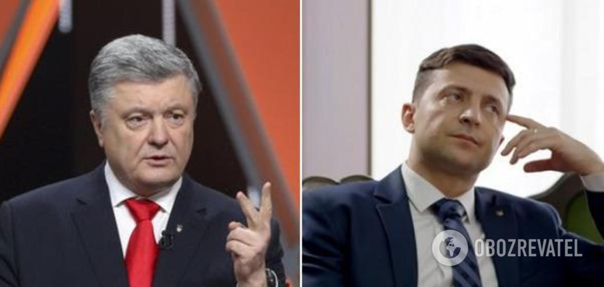 Петро Порошенко, Володимир Зеленський