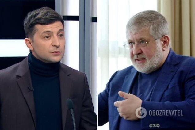 Владимир Зеленский и Игорь Коломойский